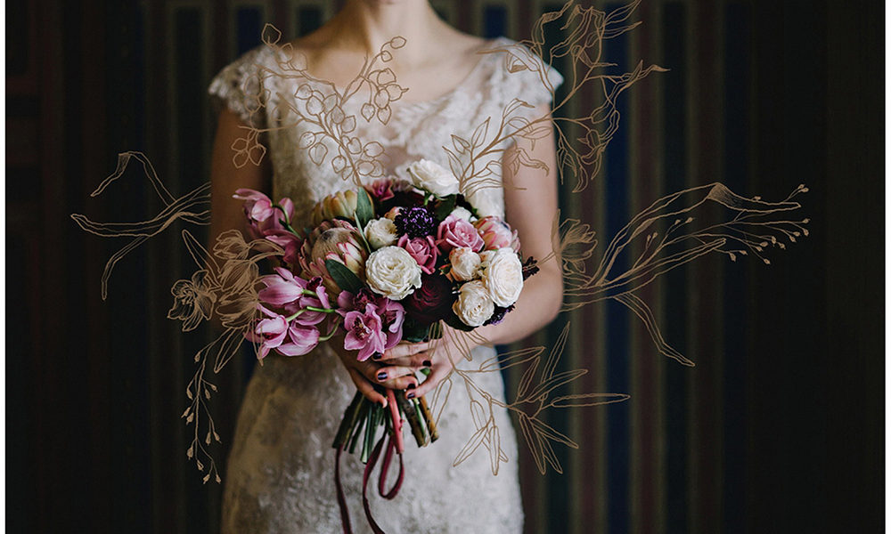 Art nouveau styled shoot